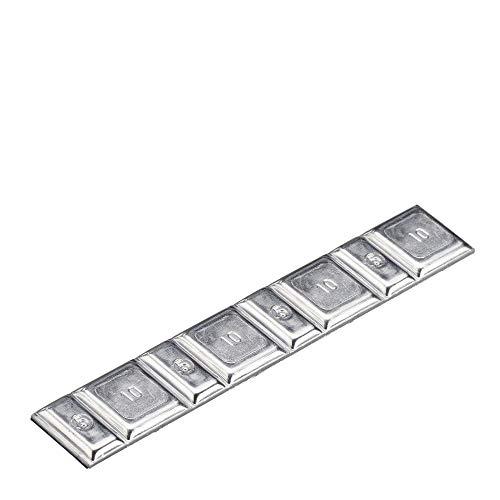 Lot de 100 barres adhésives de type 13 60 g Argenté Poids d'équilibrage Poids d'équilibrage Perfect Equipment | label de poids adhésif avec séparation