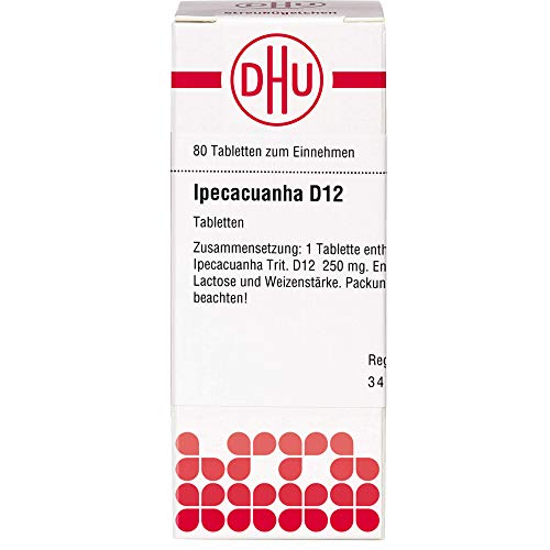 DHU Ipecacuanha D12 Tabletten, 80 St. Tabletten