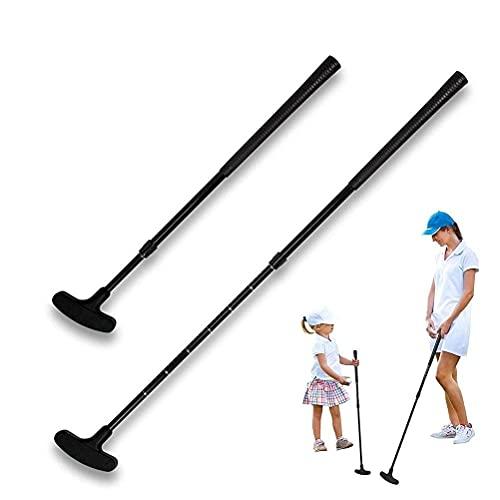 CXJC Golf-Putter tragbare Golfschläger, verstellbare Länge, 3-teilig, faltbares Zubehör, leicht und tragbar, einfache Verwendung für Indoor-Outdoor-Training
