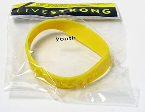 Official Live Strong Lance Armstrong Yellow Cancer LiveSTRONG Rubber Wristband Bracelet YOUTH size ✅