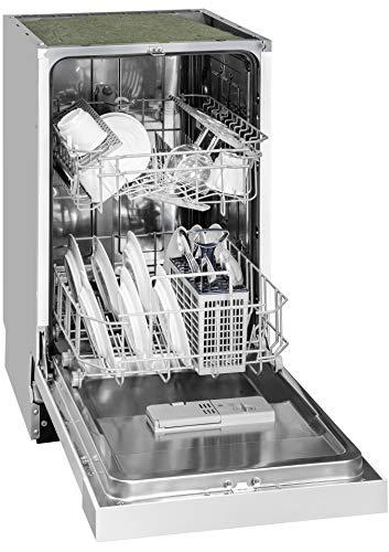 Exquisit Geschirrspüler EGSP 309-7 E/B | Teilintegriert Einbaugerät | 9 Maßgedecke | Weiß