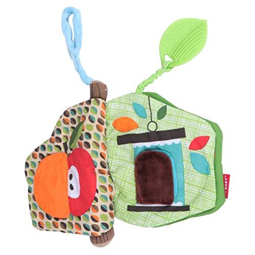 NUOBESTY Baby Stoff Buch mit Crinkly Sounds Spaß Interaktive Spielzeug Stoff Buch Frühen Lernspielzeug für Kleinkinder
