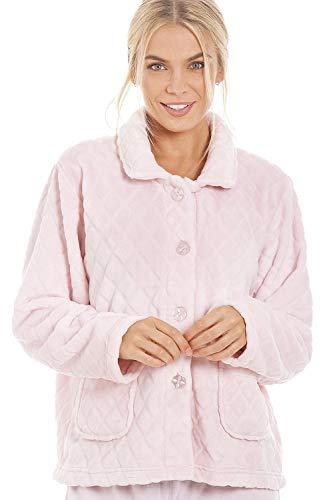 Camille Womens Soft Button und Reißverschluss Bett Jacken Designs 46/48 Diamond Pink