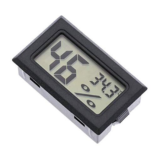 Termómetro Incorporado Higrómetro Termómetro electrónico inalámbrico Higrómetro Digital Medidor de Humedad Interior Monitor (Negro) ESjasnyfall