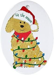 Yilooom Christmas Goldendoodle Oval 3