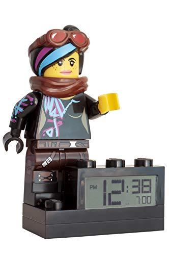 Lego Movie 2 Wyldstyle - Despertador Digital (Pantalla LCD retroiluminada, función Despertador y repetición de Alarma, 24 cm)