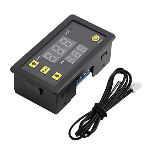 Ashley GAO Pantalla LCD profesional 12 V Termostato Digital Alarma Temperatura Sensor Medidor Regulador