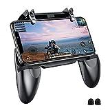 BESTZY PUBG Mobile Game Controller Controlador Móvil Gamepad Joystick Soporte para teléfono, Puntería y Disparo Altamente Sensibles para PUBG/Fortnite/Knives out, 4.5in-6.5in