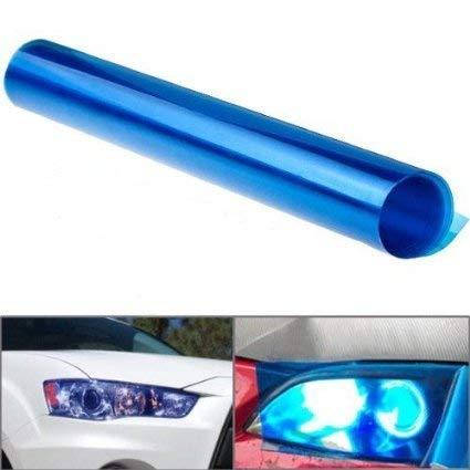 Voarge Scheinwerfer-Folie Gelb 30 * 120cm, Wasserdicht Auto Scheinwerfer Folie Tönungsfolie Nebelscheinwerfer (blau)