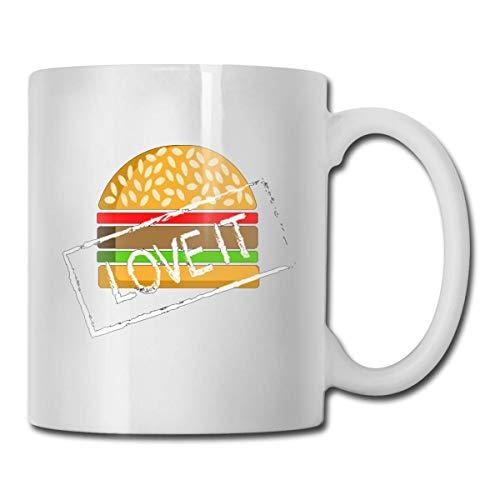 11oz Tasse Kaffeetasse Familie Geschenk-Idee Mug Cup Hamburger lieben es