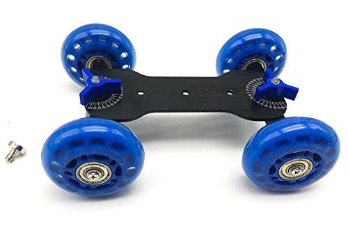 Tabletop Mobile Rolling Slider Dolly Car Skater Video Track Rail for Speedlite DSLR Camera Camcorder Rig
