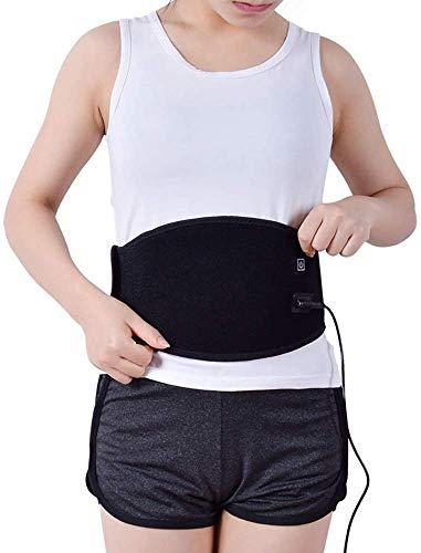 Pkfinrd Heizung Taille Massage, Gürtel Schutz Lendenwirbel Massage-Gurt Selbst Heizung magnetischer Therapie-Gurt Entlasten Rückenschmerzen und Stress