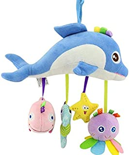 Baby Bed Bell Neonatal Baby Toys With BB Bell Plush Toy For Baby Bed Hanging Bell Cartoon Animal-xsq
