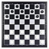YUDIAN Juego de Ajedrez/Damas/Backgammon 3 en 1,Tablero de Ajedrez Magnético de Viaje Plegable Portátil para Niños,9,8 X 9,8 X 0,8 Pulgadas