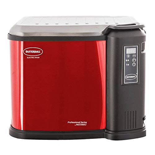 Masterbuilt 23014314 Butterball XXL 1650W Indoor Digital Electric 22-Pound Turkey Fryer With Accessories, Cinnamon