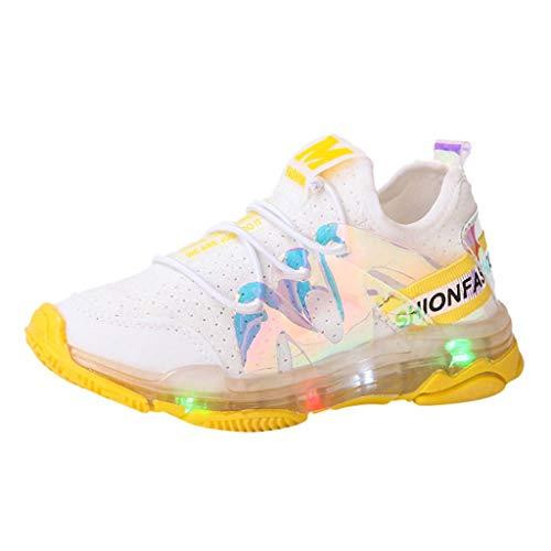 Kinder Baby Schuhe mit Licht LED Leuchtende Blinkende Sneaker 21-30 Turnschuhe Unisex Mode Blinkschuhe Low-Top Casual Outdoor Sneakers Laufschuhe Yuiopmo