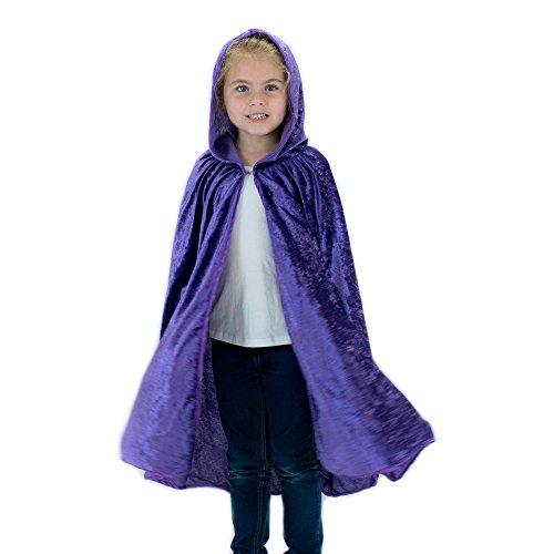 Kids Cosplay Hooded Cloak Cape - Purple
