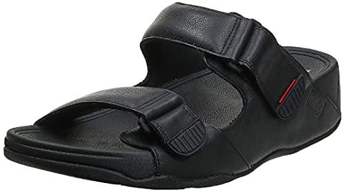 Fitflop Gogh MOC-Leather, Sandale Glissante Homme, Noir (Black 001), 44 EU