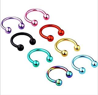 8 Pcs C-bar Wear Classic Stud Earrings Earrings
