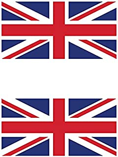 Two Pack Flag of the United Kingdom British Sticker FA Graphix Decal UK Royal Union Jack