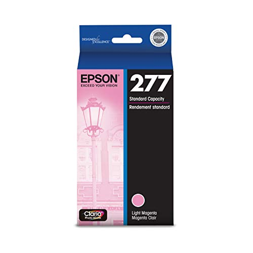 EPSON T277 Claria Photo HD Ink Standard Capacity Light Magenta Cartridge (T277620) for Select Epson Expression Printers
