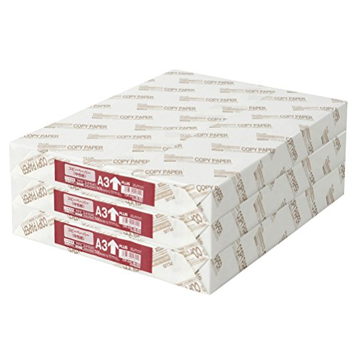 スマートマットライト プラス コピー用紙 A3 紙厚0.09mm 白色度82% 1500枚 (500×3) 56003×3