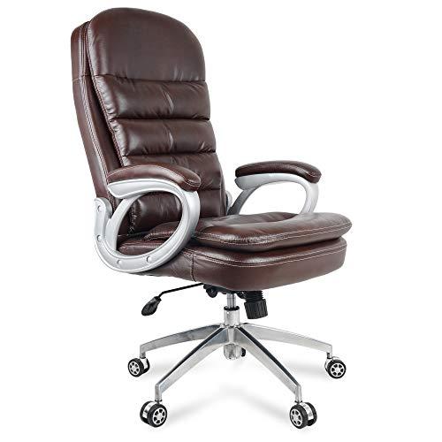 ETTOREZ Mystic Series Ergonomic Premium Leather Gaming Chair Racing Style High Back Premium Black Executive Headrest Office Chair