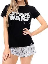 Star Wars Pijama para Mujer Guerra de Las Galaxias Negro Size XX-Large