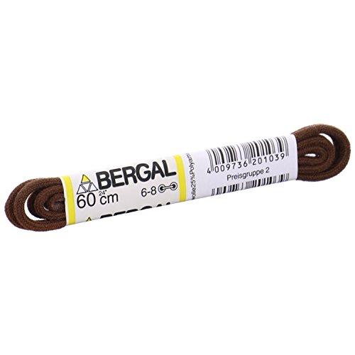 1 Paar Bergal Schnürsenkel mittelbraun - rund - dünn - Ø 2,5 mm (90 cm)