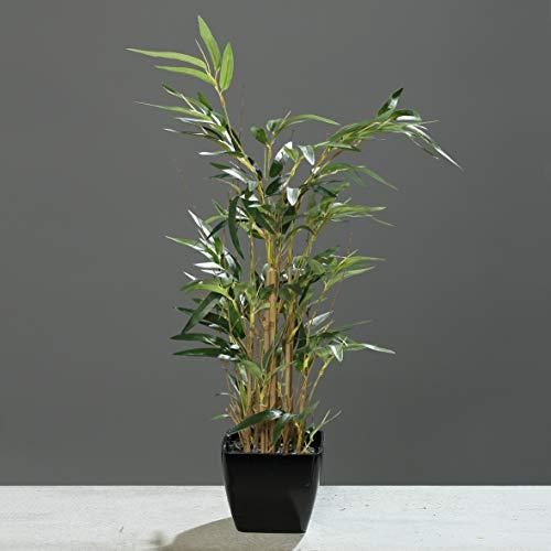 Bambus 60cm im schwarzen Topf Kunstpflanzen Kunstbaum künstlicher Bambus Strauch