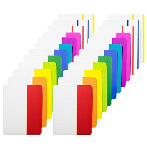 KIMCOME 480 Pieces Sticky Tabs 2 Inch Index Tabs, Colored Page Markers Repositionable Tape Flags For Books, Binders And File Folders, [24 Sets 12 Colors] Easy To Stick, Removes Cleanly