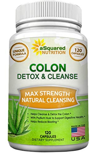 Pure Colon Cleanse for Weight Loss - 120 Capsules, Max Strength, Natural Colon Detox Cleanser, Colon Cleansing Diet Supplement Blend for Digestive Health, Diet Pills for Men & Women
