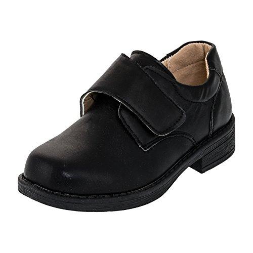 Festliche Kinder Anzug Schuhe mit Einer Innensohle aus echtem Leder M393sw Schwarz 30