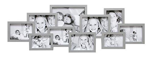 Deknudt Frames S65SL3 Cadre Multi-Photos avec 10 Ouvertures Argenté 107 x 40,5 x 2,5 cm