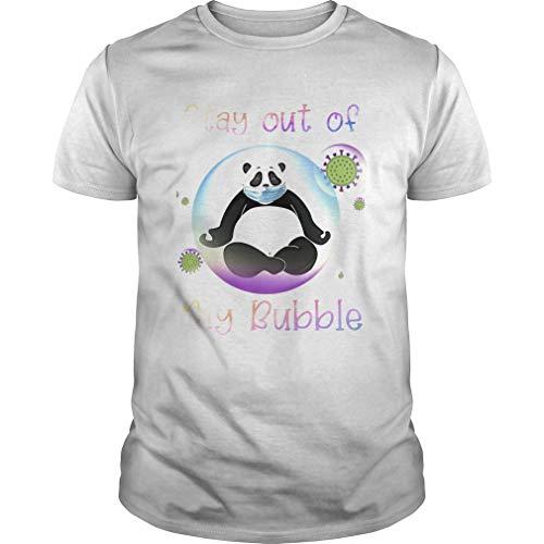 Pa.nda Stay Out My B.u.bble Cor.onavirus M.Ask - Maglietta unisex con stampa frontale
