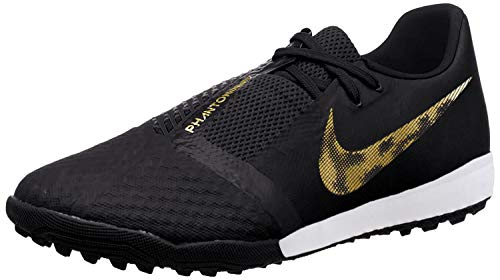 Nike Men's Phantom Venom Academy TF Soccer Shoes- AO0571 (7 M US, Black/Metallic Vivid Gold)