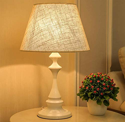 GYC Lámpara de Mesa Grande con Pantalla de Tela 30x50 cm, lámpara de Escritorio de Lectura cálida de cabecera de Dormitorio, lámpara de Mesa Creativa, lámpara Decorativa para Sala de Estar