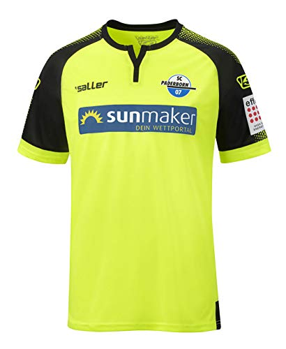 Saller SC Paderborn 07 Auswärts-Trikot 2019/2020 252 Neongelb-schwarz Gr. L-XL