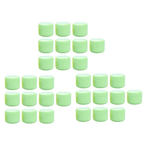 dailymall 30x Cosmetic Container Vide Rond en Plastique Contenant pour Crème et Stockage de Maquillage