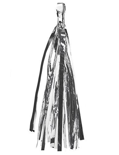 Generique - 6 Pompons Tassel Argentés
