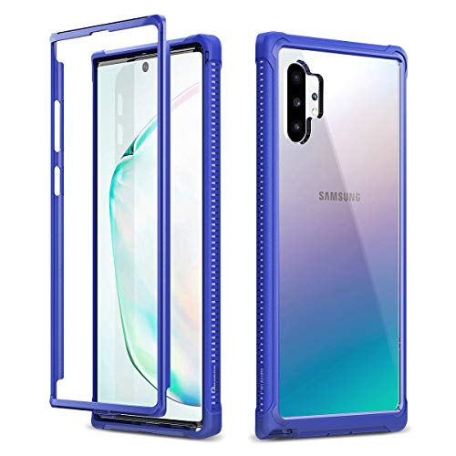 Dexnor Galaxy Note 10 Plus Case Without Screen Protector Clear Rugged Protective Shockproof Hard Back Cover Thickened Rubber Corners Heavy Duty Bumper Case for Samsung Galaxy Note 10 Plus 5G - Purple