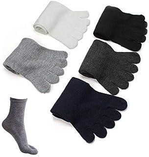 TJCJIEM, 5 Par de Calcetines Térmicos de 5 Dedos de Algodón para Hombres - Calcetines Deportivos de Invierno Hombre Suave Socks Personalizados de Otoño Moda Calentitos Calcetines Cortos