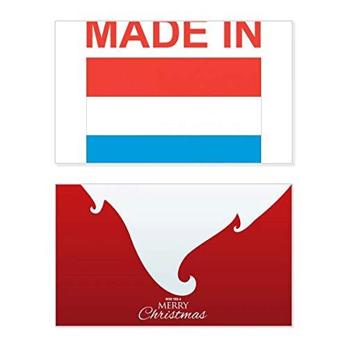Gemaakt in Luxemburg Land Liefde Vakantie Vrolijk Kerstmis Kaart Kerstmis Vintage Bericht