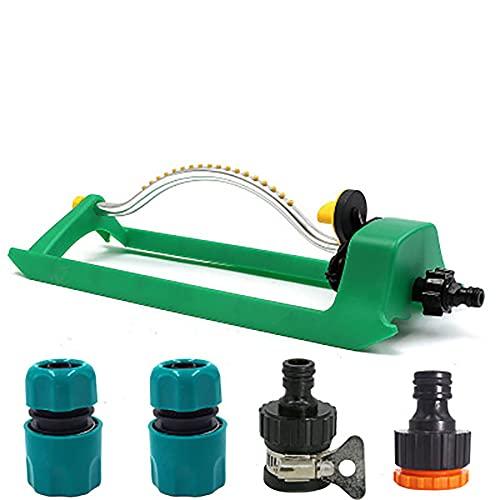 XER Aspersor de jardín con boquilla de 6/12/19 agujeros, rociador automático de agua para el riego de flores, riego, riego de césped