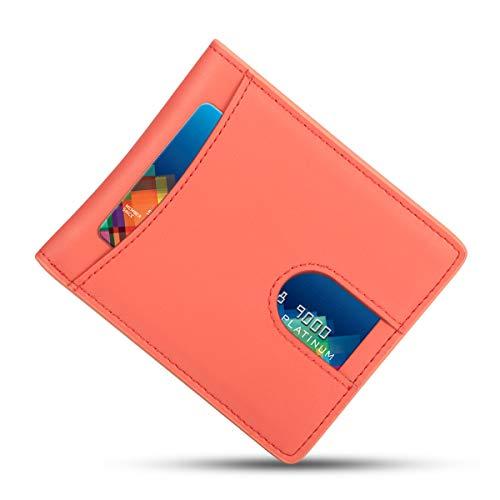 Geldbörse Herren/Geldbeutel Männer, Everwell Premium Leder Klein Schlankes Portemonnaie mit RFID Schutz, Slim Wallet, Mini Portmonee, Portmonaise Geldtasche Brieftasche mit Geschenk Box