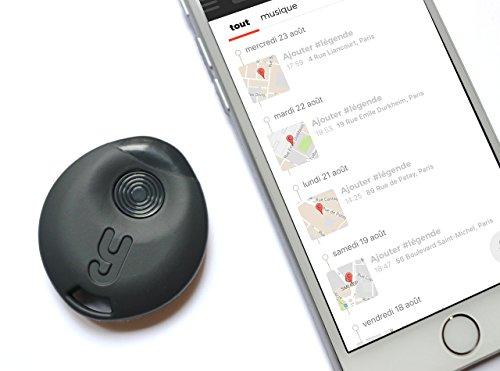 Yuzzit Bluetooth Multifunktions-Schlüsselfinder, GPS Standort-Marker, Sprachmemo, Musikerkennung (Weiß)