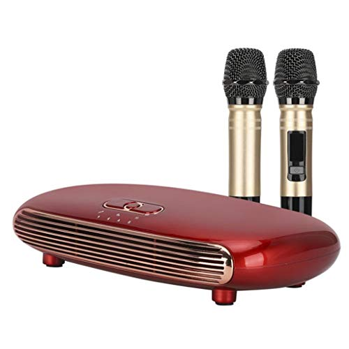 WZHZJ Sistema de Karaoke Inteligente Caja de Karaoke inalámbrica Sistema Mezclador Mini Familia Home Karaoke Cantante de Mano Máquina de Canto para PC de TV