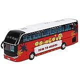 Tnfeeon Autobús de Dos Pisos de aleación, 1:32 Modelo de Juguete de autobús turístico Simulación Tour Bus Juguete con luz niños(Rojo)