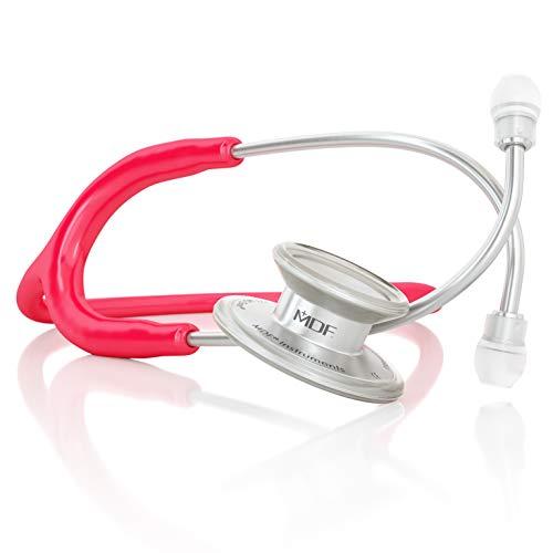MDF® MD One® Premium Estetoscopio doble cabeza de acero inoxidable - Garantía de por vida & Programa-piezas-gratuitas-de-por-vida (MDF777) (Frambuesa)