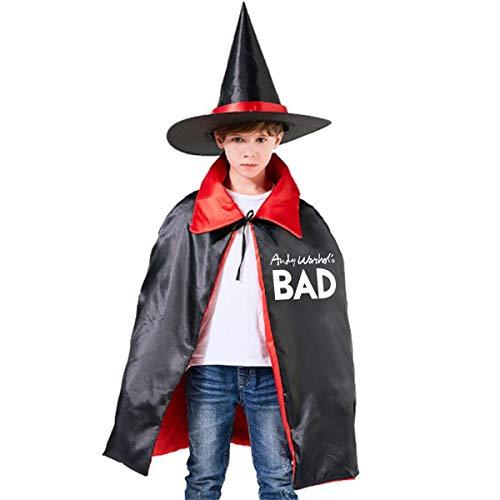 NUJSHF Capa con Capucha Unisex para niños de Andy Warhol's Bad As Worn de Halloween para decoración de Fiestas de Disfraces de Cosplay